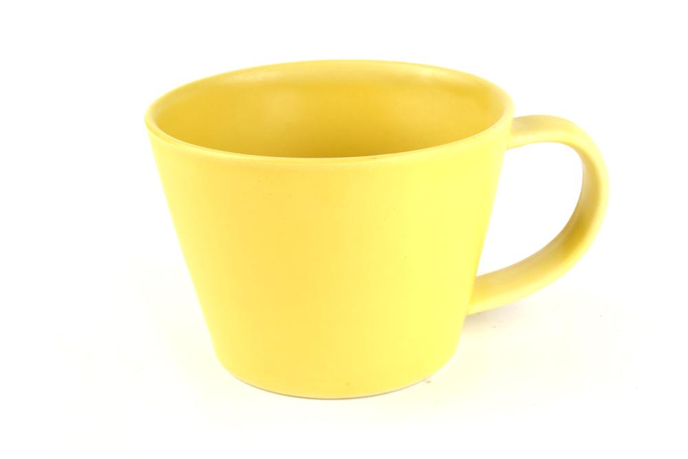 MIJ Hrnek na čaj žlutý 6,5 cm