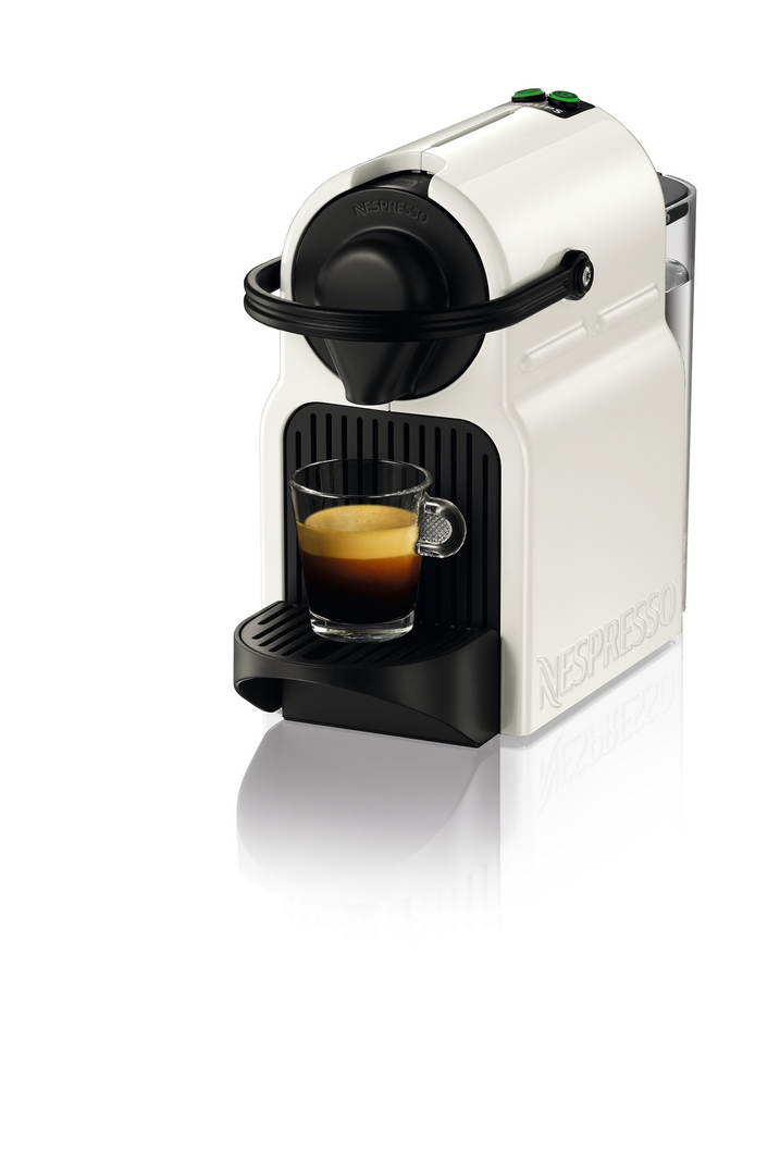Kávovar na kapsle KRUPS Inissia bílý + 14 nespresso kapslí ZDARMA
