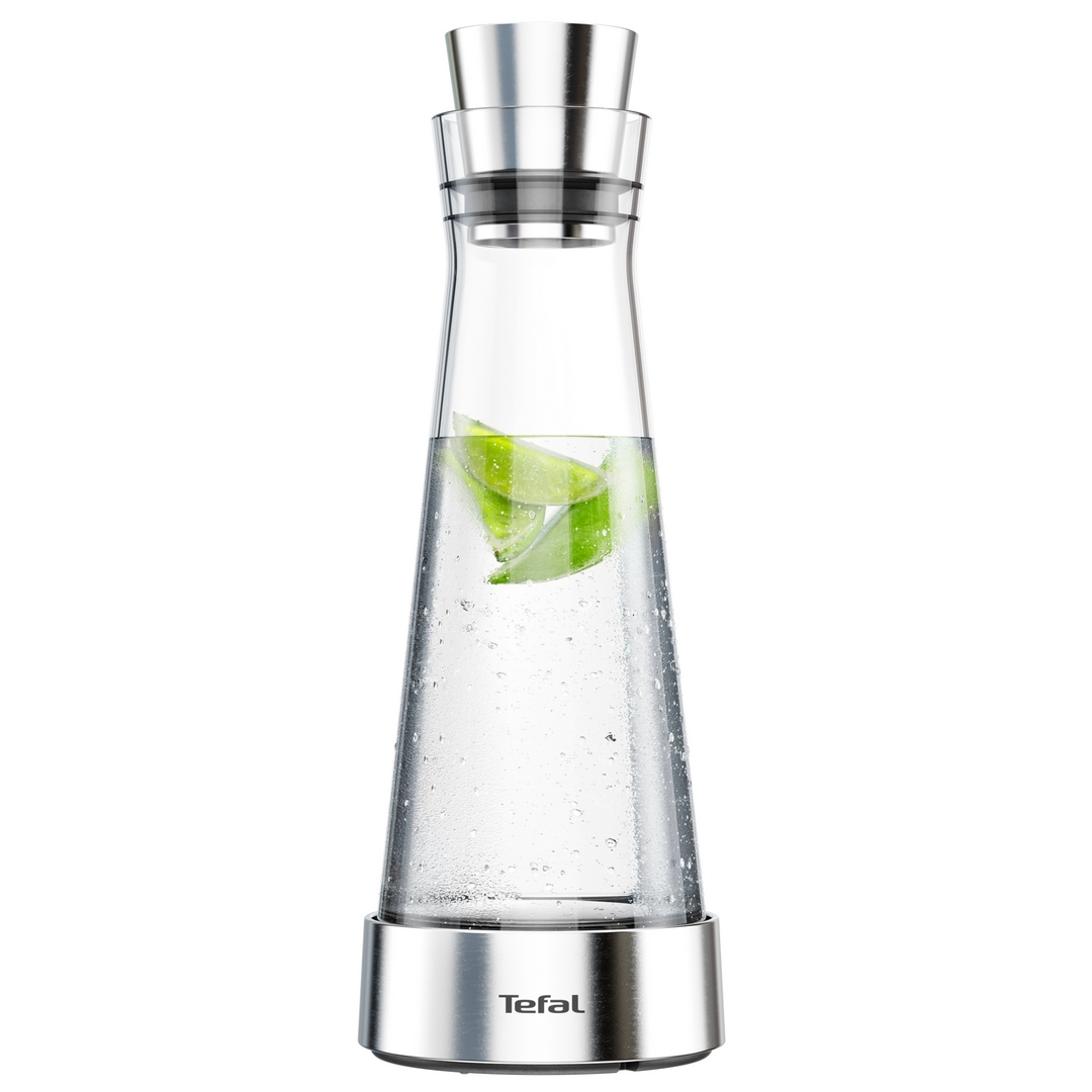 Karafa na vodu Flow Slim F4160210 Tefal 1 l nerez/sklo