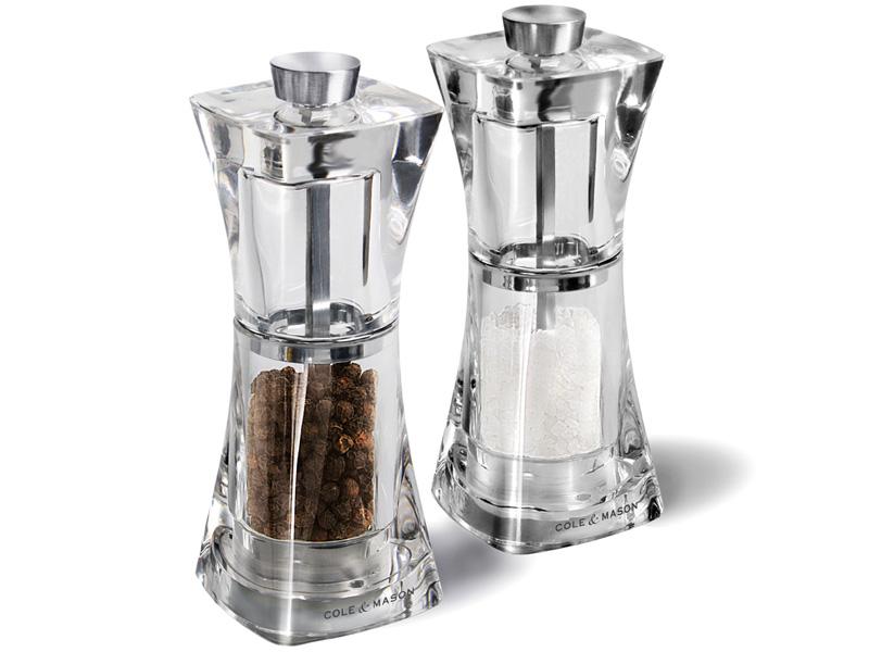 Set mlýnků na pepř/sůl Cole & Mason Crystal 125 mm