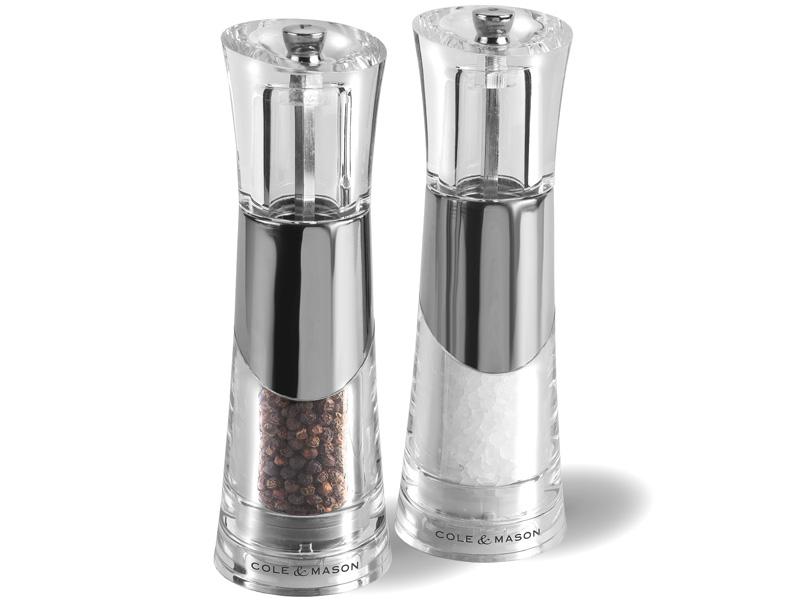 Set mlýnků na pepř/sůl Cole & Mason Bobbi 185 mm