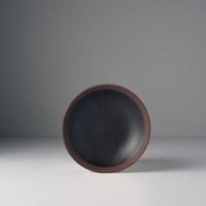 MIJ Malý talíř 15 x 3 cm černo-hnědý