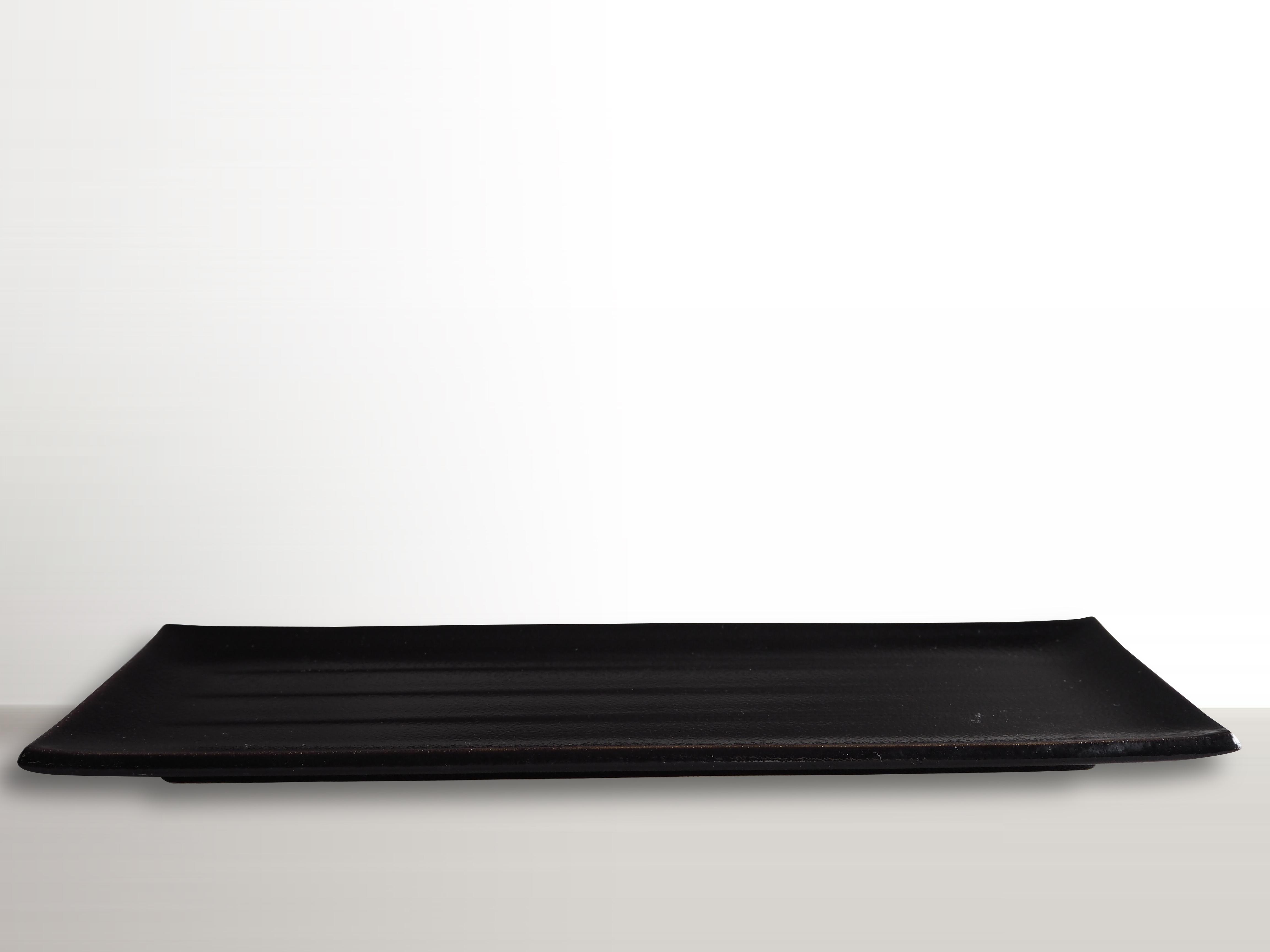 MIJ Obdélníkový talíř 38 x 12 cm černý