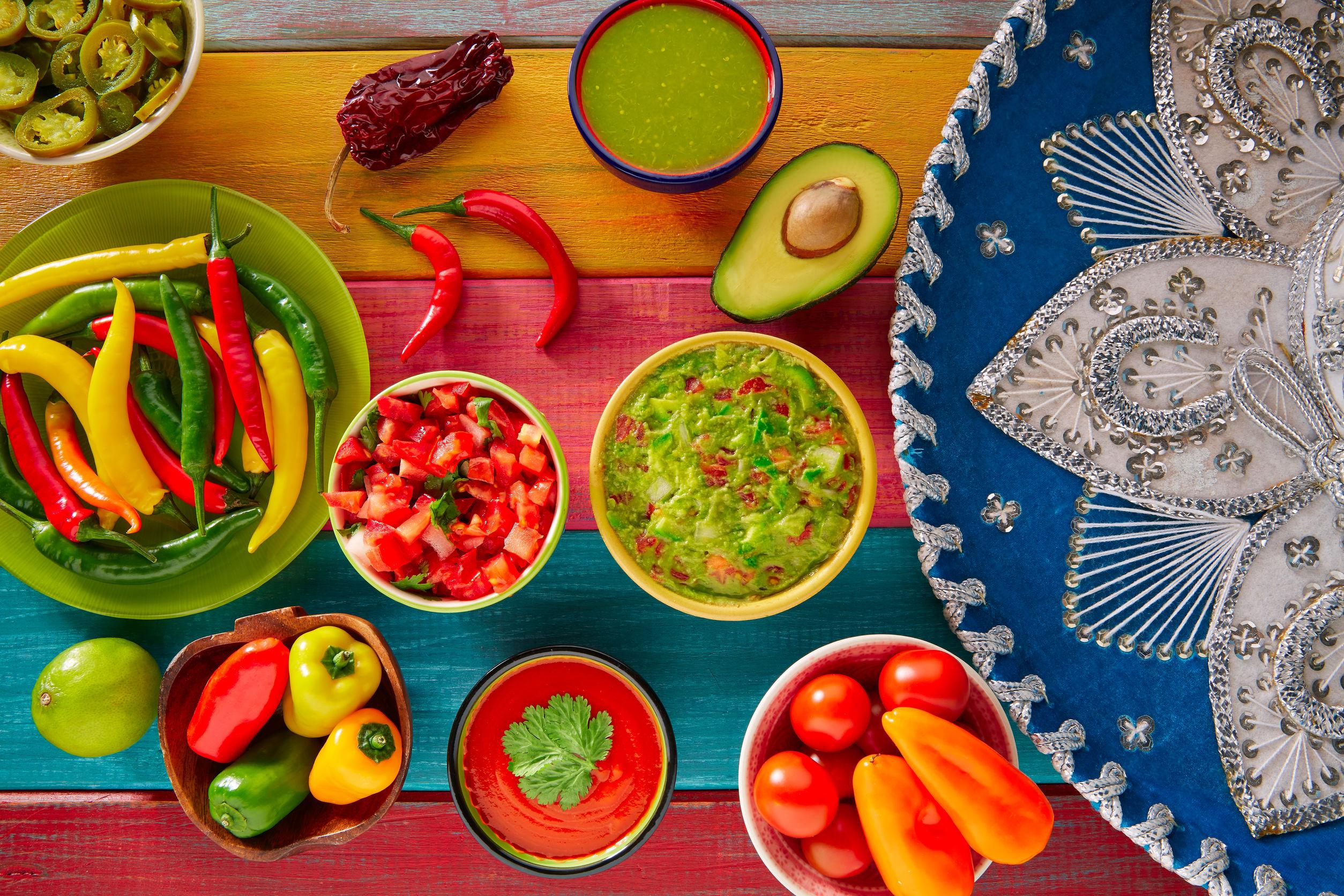 Mexická kuchyňa - Carpaccio tortillas, Pico de Gallo, Guacamole