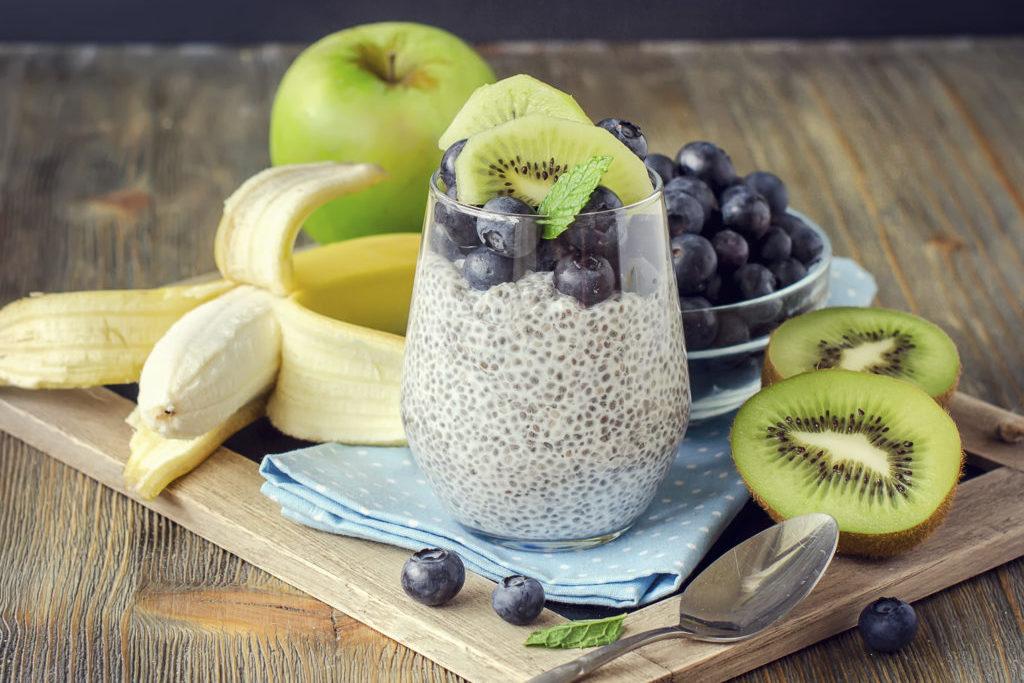 Chia puding s ovocím