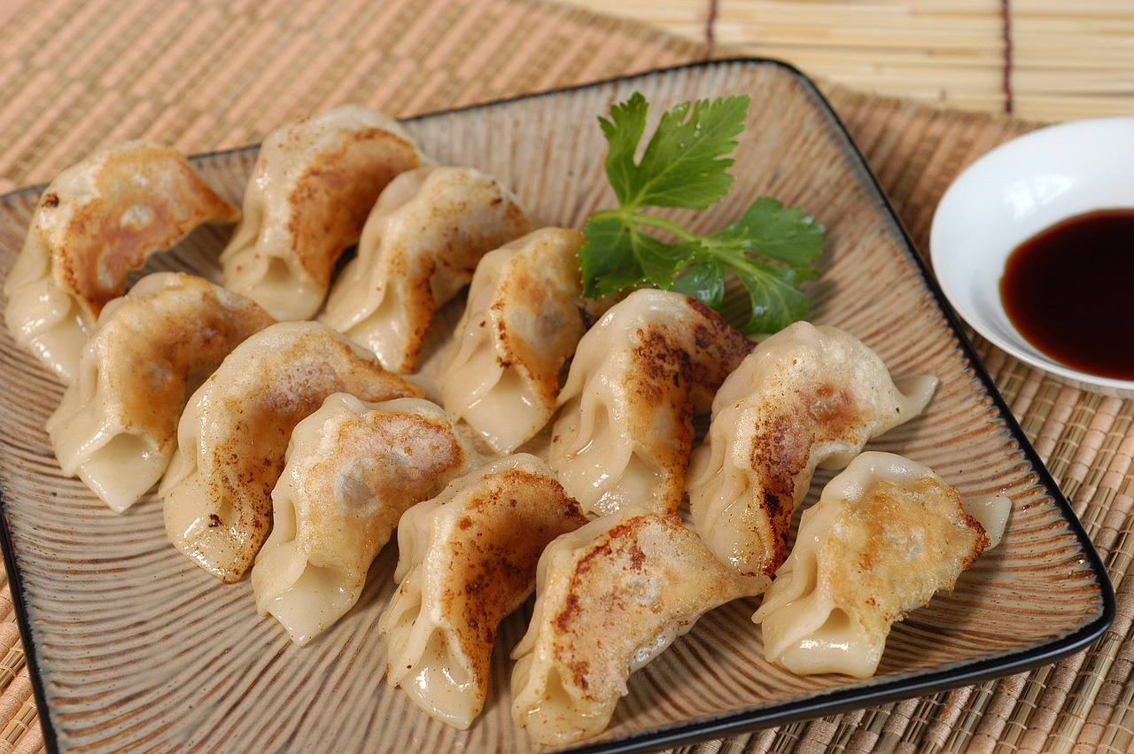 Ázijské taštičky Gyoza so sójovou omáčkou