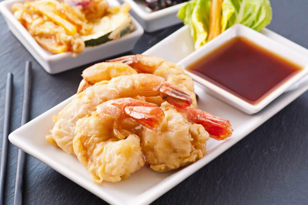 Krevety v tempure