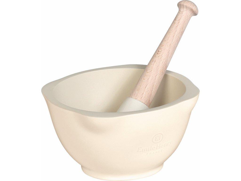 Mažiar Emile Henry slonová kosť 14 cm