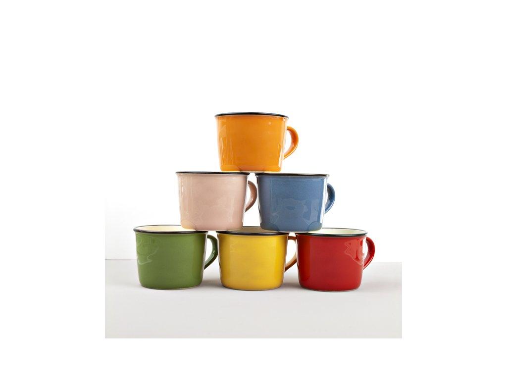 Keramický hrnček COLOURBLOCK - zelený, široký 250 ml MIJ