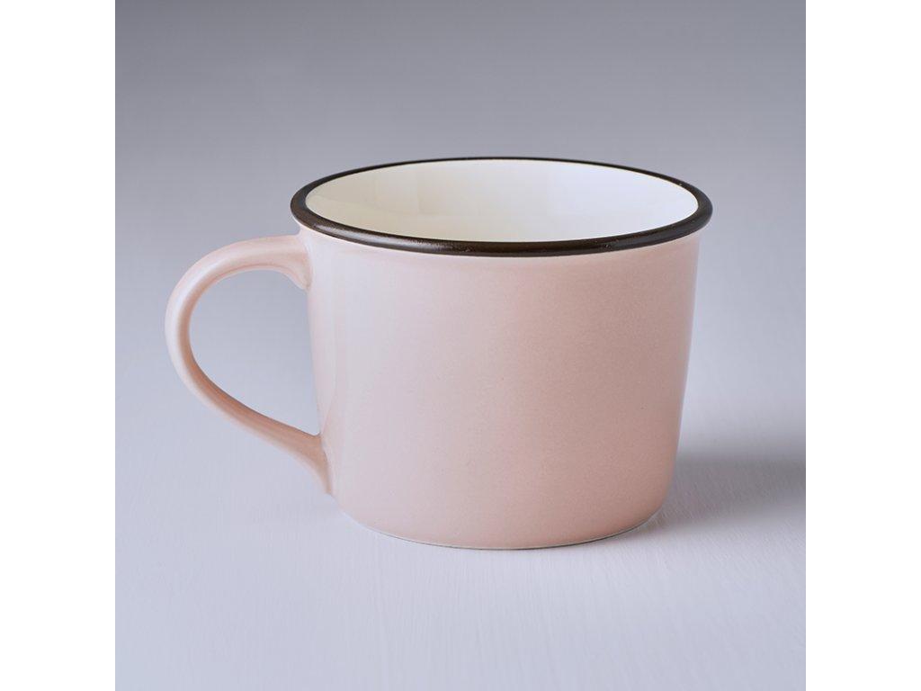 Keramický hrnček COLOURBLOCK - ružový, široký 250 ml