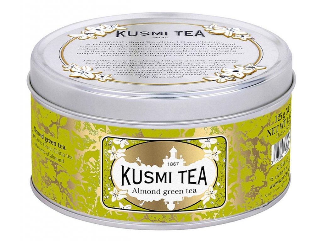 SYPANÝ ZELENÝ ČAJ S MANDĽAMI KUSMI TEA 125 G