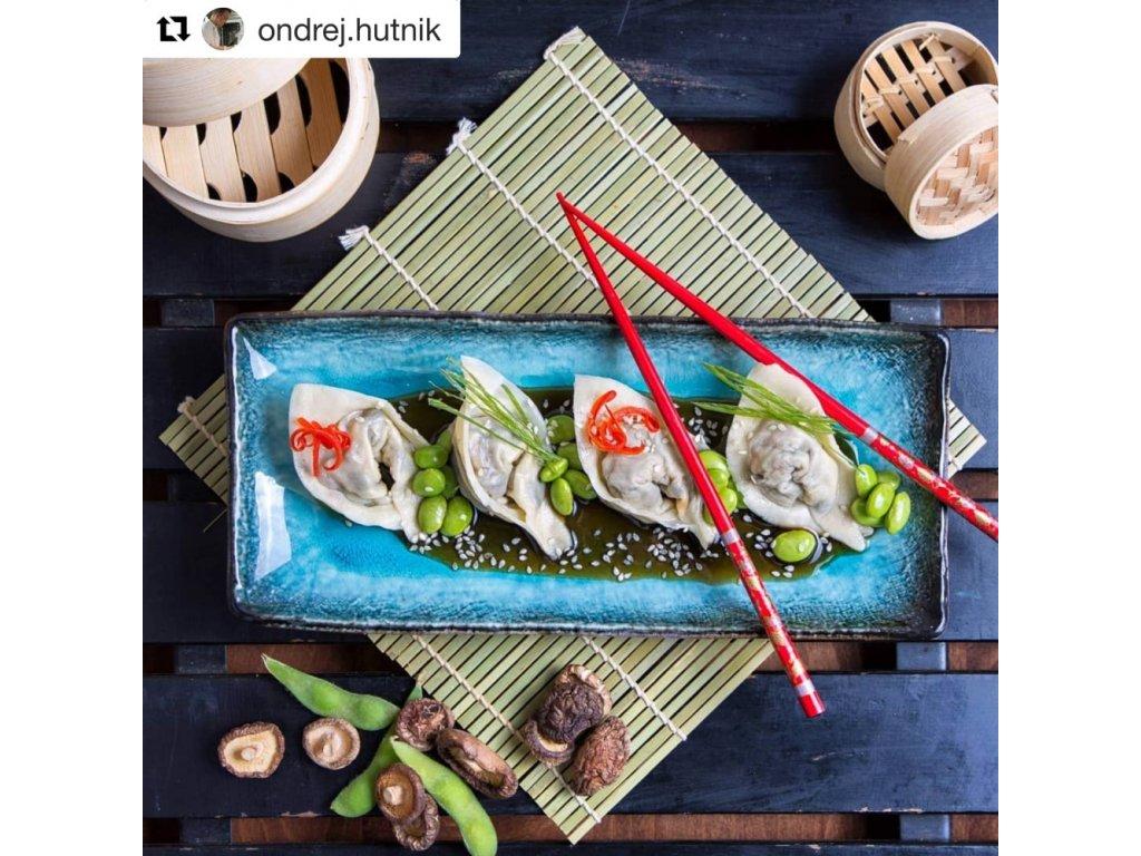 Tanier na sashimi Sky Blue 29 x 12 cm MIJ