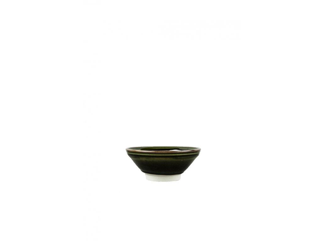 Stredná miska tmavozelená 17 cm 550 ml MIJ