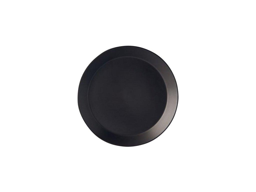 Okrúhly tanier s vyšším okrajom MT čierny 26 cm MIJ