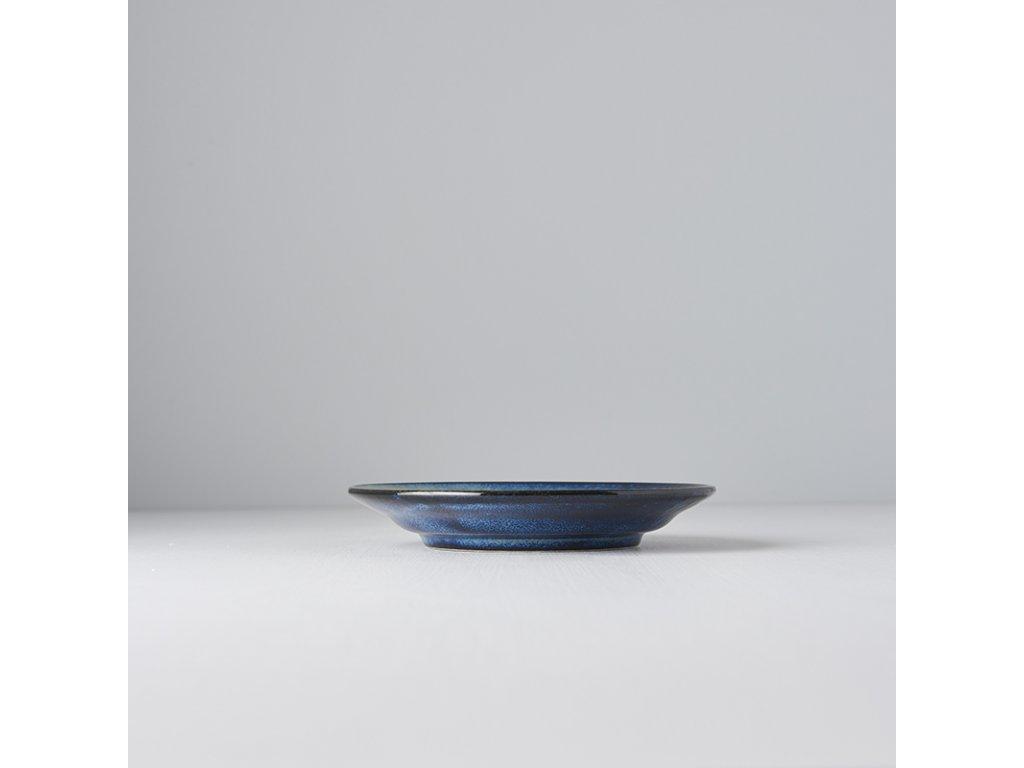 Okrúhly plytký tanier Indigo Blue 17 cm MIJ