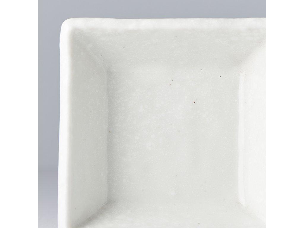 Štvorcová miska na omáčky biela 9 cm 110 ml