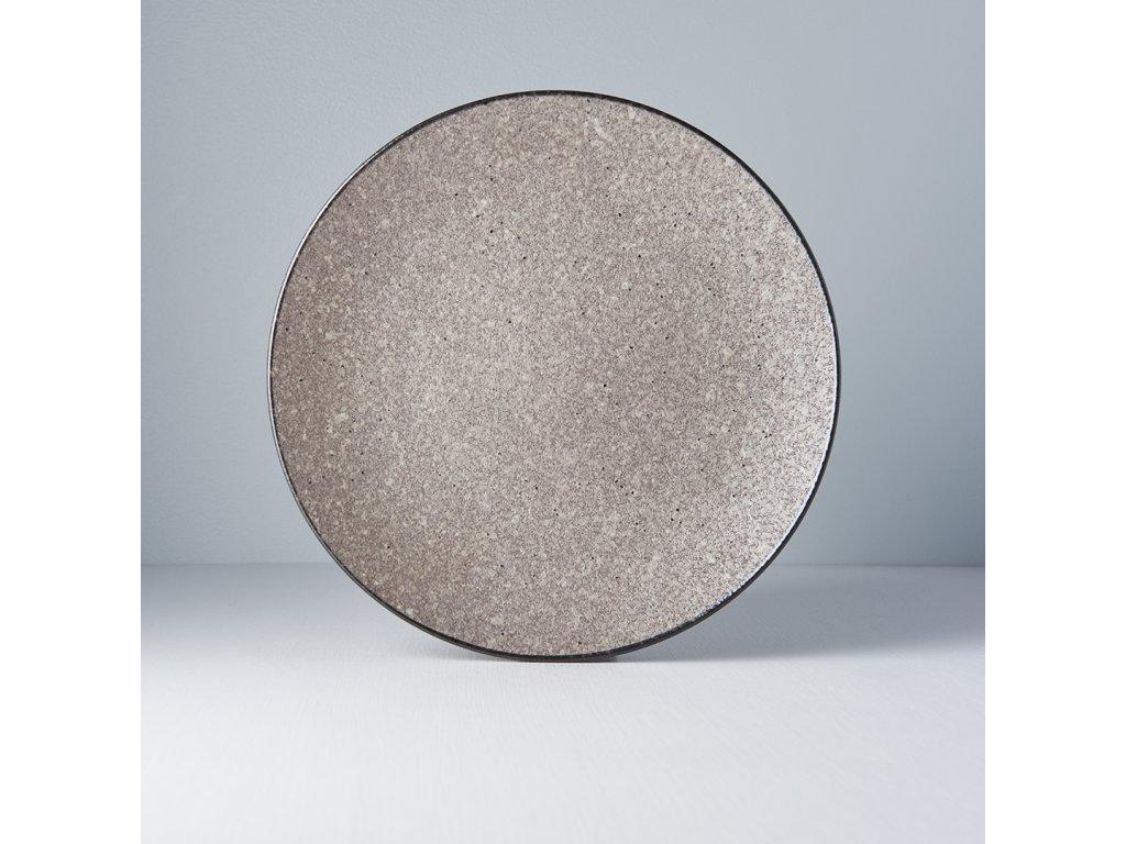 Okrúhly plytký tanier Earth Black 29 cm MIJ