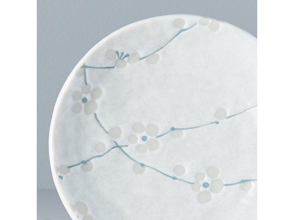 Malý okrúhly tanier White Blossom 13 cm MIJ