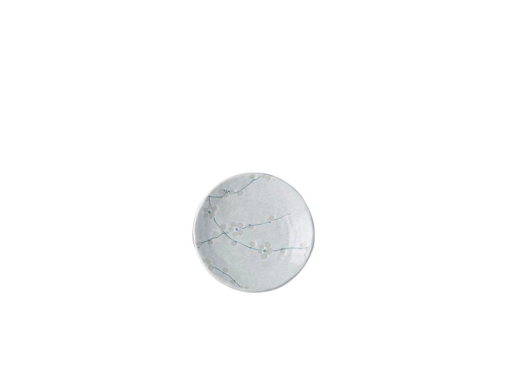 Malý okrúhly tanier White Blossom 13 cm