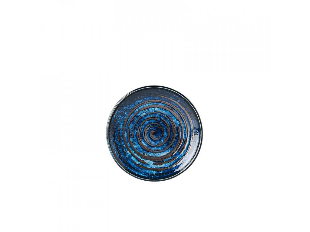 Plytký predkrmový tanier Copper Swirl 17 cm MIJ