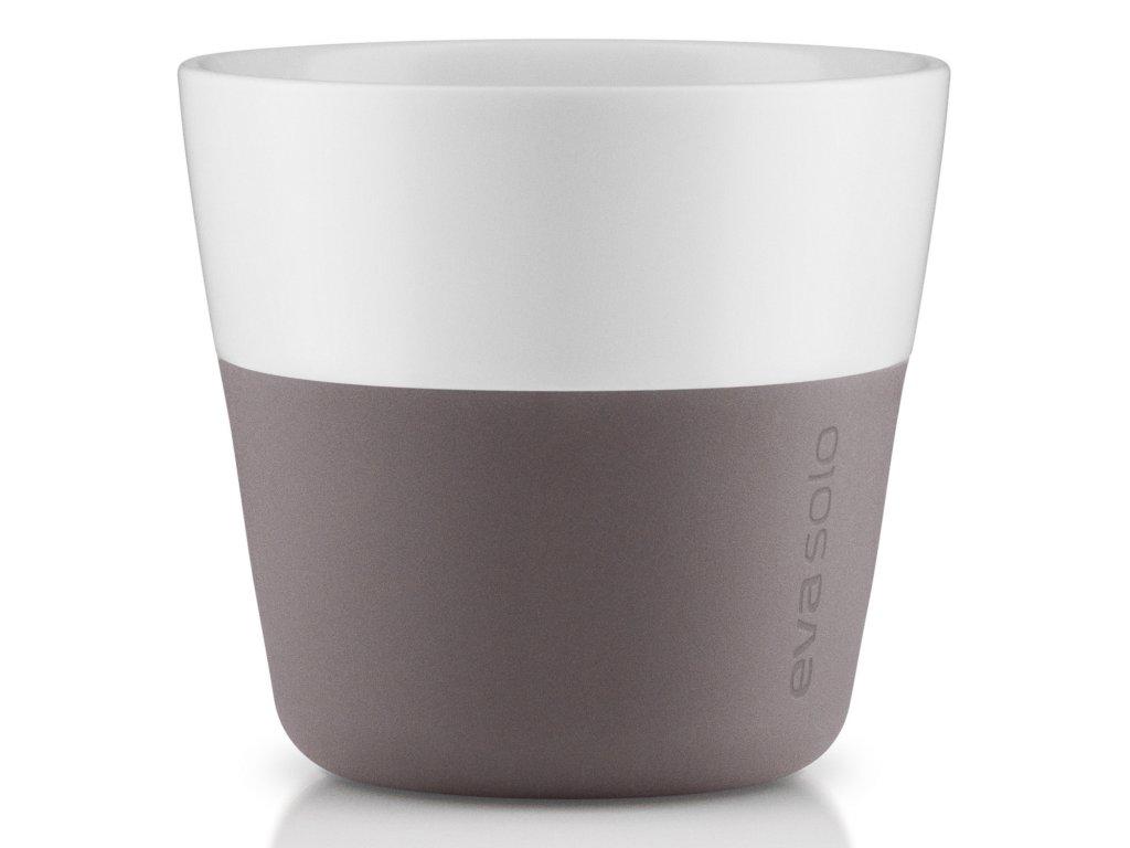 Termohrnčeky na kávu Lungo 230 ml 2 kusy sivé