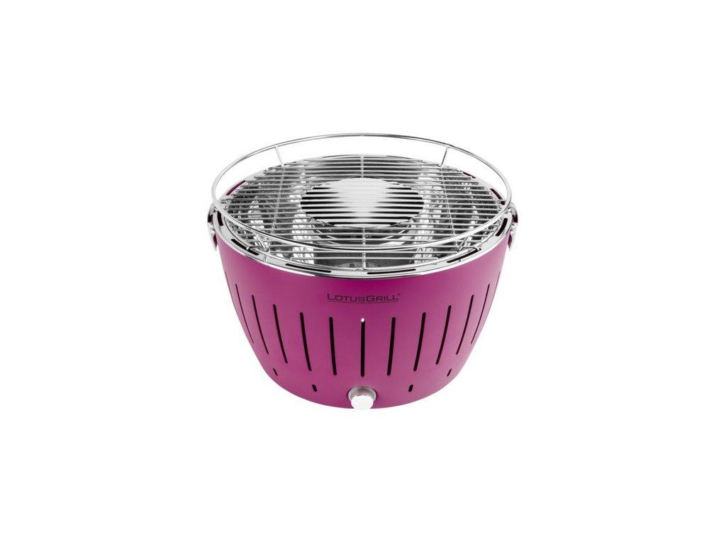 Bezdymový gril LotusGrill XL fialový  + gélový podpalovač + taška + sada batérií