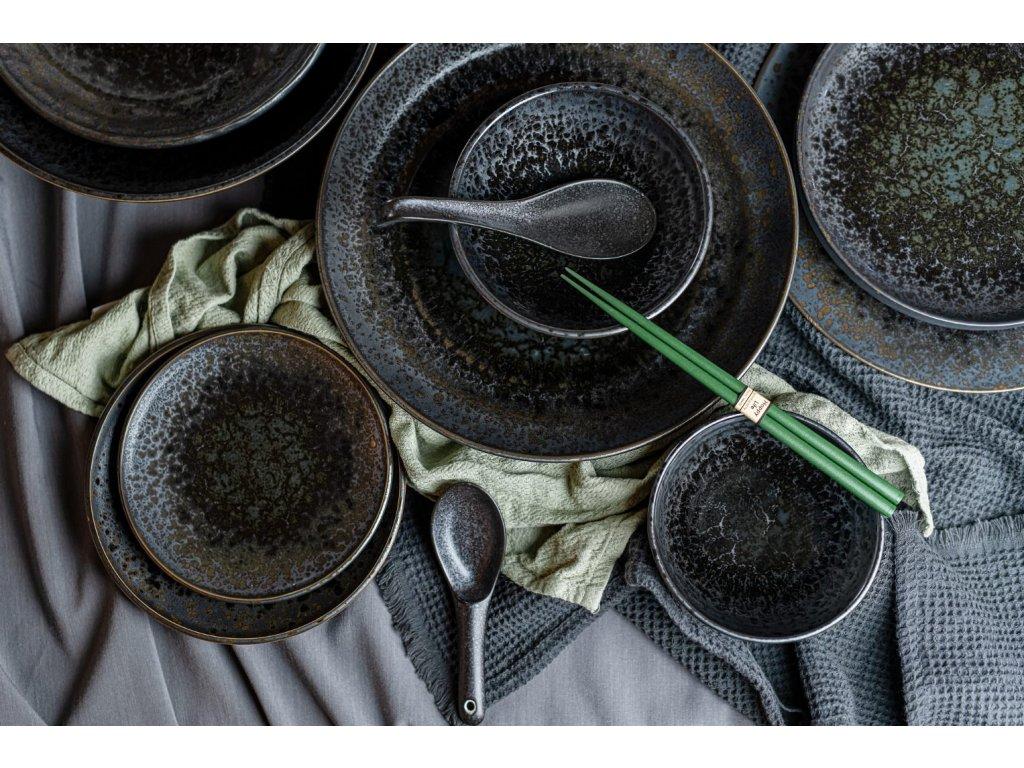 Veľký plytký tanier Black Pearl 29 cm