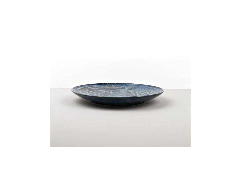 Plytký tanier Copper Swirl 25 cm MIJ