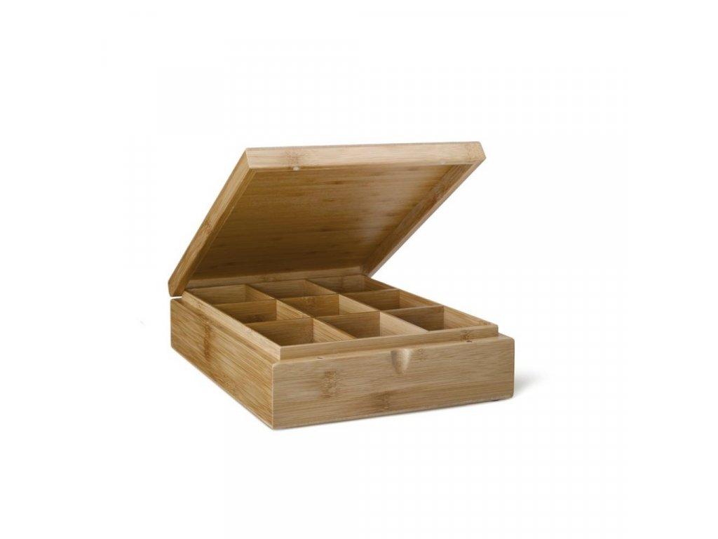 Krabička na čaj Bamboo Bredemeijer 9 priehradok bez okienka