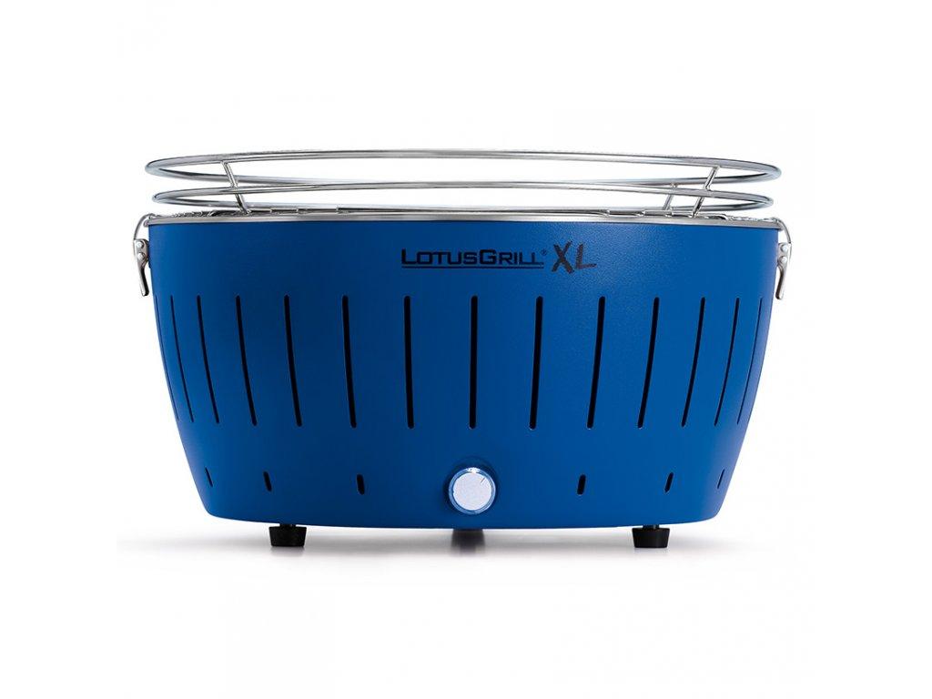 Bezdymový gril LotusGrill XL modrý  + gélový podpalovač + taška + sada batérií