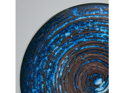 Plytký tanier Copper Swirl 29 cm MIJ