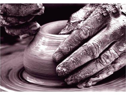 Keramická máslenka Emile Henry granátová 16,5 x 11,5 cm
