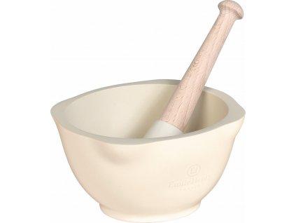 Hmoždíř Emile Henry slonová kost 14 cm