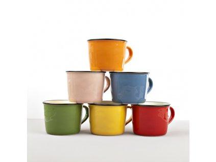 Keramický hrnček COLOURBLOCK - zelený, široký 250 ml
