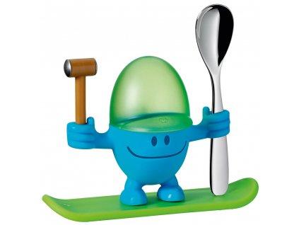 Stojan na vajíčka s lyžičkou WMF modrá a