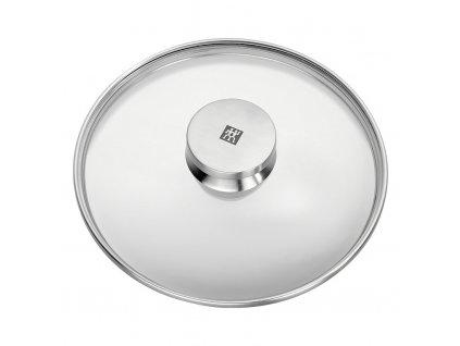 Sklenená pokrievka s úchytom z nehrdzavejúcej ocele Ø 20 cm TWIN® Specials