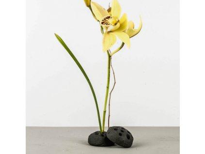 Keramický podstavec na kvetiny s otvormi Kenzan Lotus MIJ