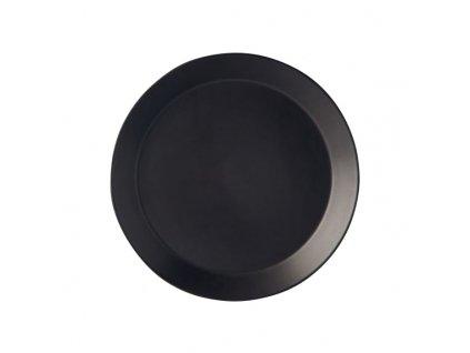 Guľatý tanier MT čierny 26x3 cm