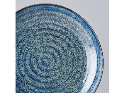 Okrúhly plytký tanier Indigo Blue 23 cm