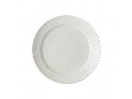 Okrúhly plytký tanier biely 23 cm