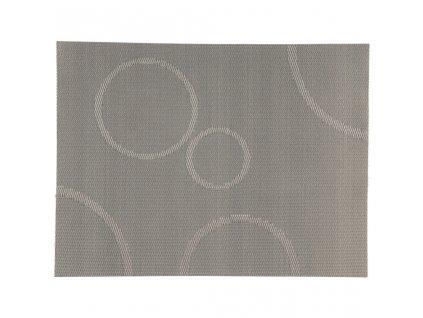 Prostírání s kruhy Zone stříbrná 40 x 30 cm