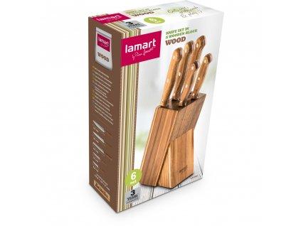 Sada nožov v bloku Wood LT2080 Lamart 5 ks