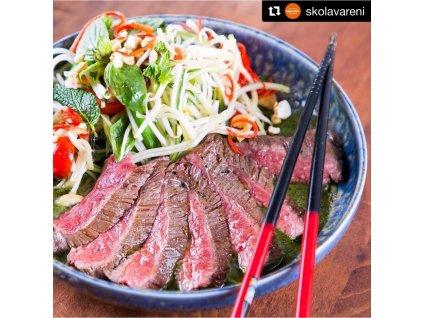 Kulatý jídelní talíř s vysokým okrajem Earth & Sky 22 cm 1