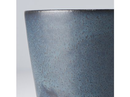 Hrnček bez ucha RAMEKIN modro-čierny 200 ml MIJ