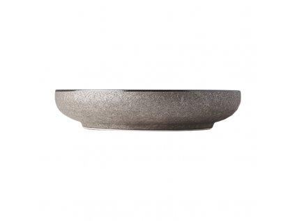Okrúhly tanier s vysokým okrajom Earth Black 22 cm