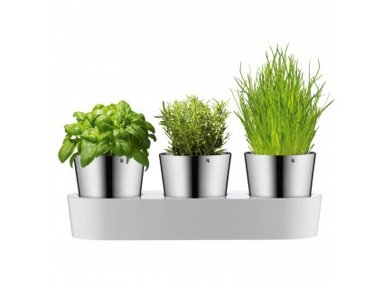 Bylinková záhradka - 3 samozavlažovacie kvetináče Gourmet WMF