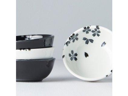 Set misiek Black & White Sakura 4 ks MIJ