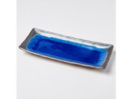 Tanier na sashimi Cobalt Blue 29 x 12 cm MIJ