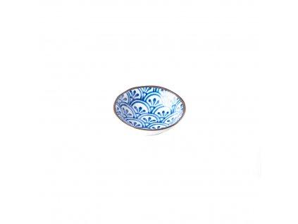 Malá miska 3 Petal Crest Indigo Ikat 11 cm MIJ