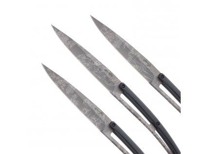 Sada steakových nožov 6dielna PaperStone®, titanium Toile de Jouy deejo